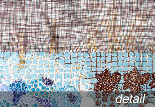 Blueberries & Lace detail view